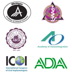Dr. Kosinski dental associations logos