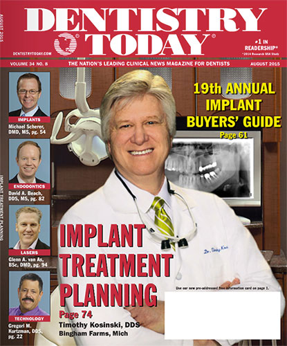 Dr. Kosinski on the cover of Dentistry Today