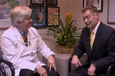dr kosinski with patient interview