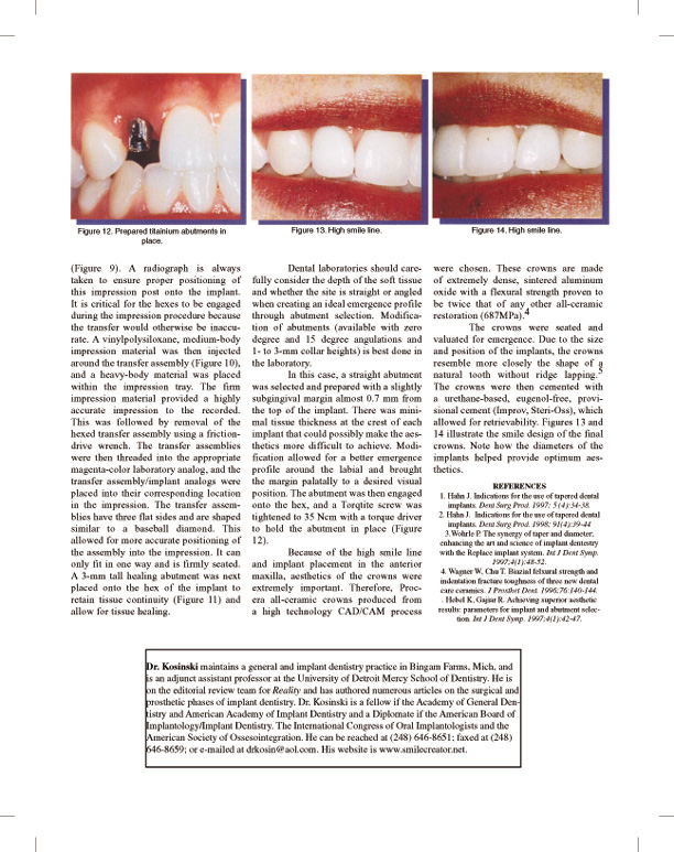 dentistry today dr. kosenski page 4