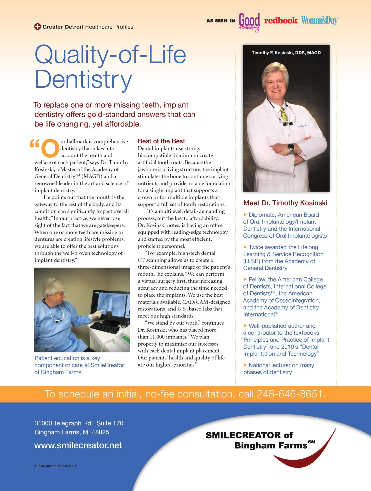 quality of life dentistry with Dr. Kosinski