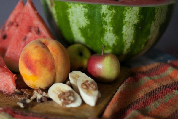 an assortment of fruits.