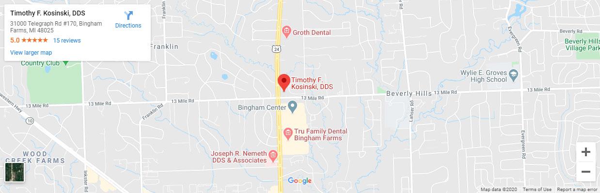 Map Bingham Farms